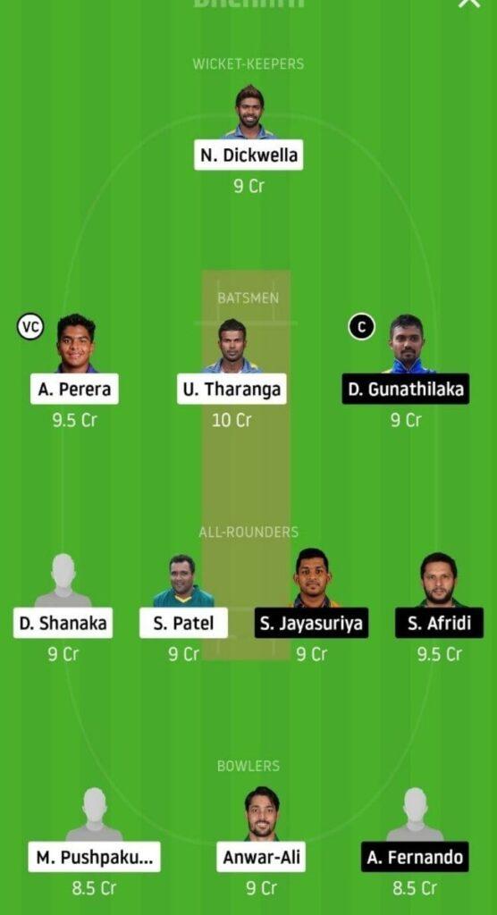 DV vs GG Dream11 Team Prediction _ Lanka Premier League _ 12th match _ 5th Dec 2020 grand league