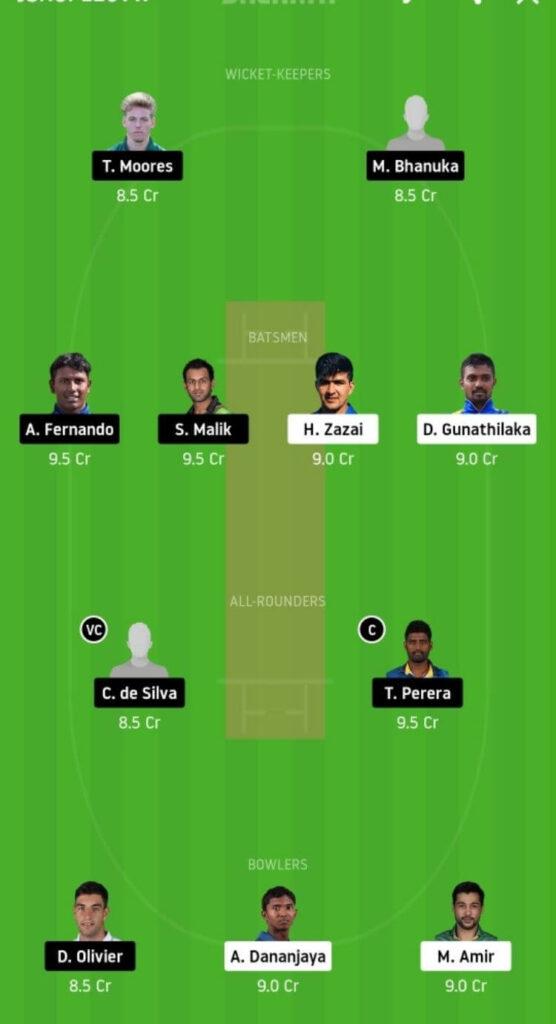 GG vs JS Dream11 Team Prediction | Match 9 | Lanka Premier League T20 | 3rd Dec 2020 grand league