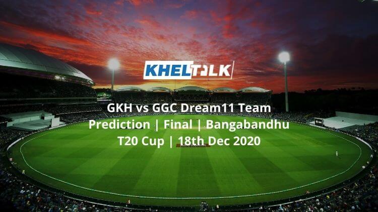 GKH vs GGC Dream11 Team Prediction   Final   Bangabandhu T20 Cup   18th Dec 2020