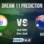 India vs Australia 3rdODI Dream11 Prediction