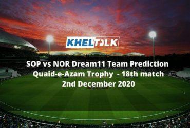 SOP vs NOR Dream11 Team Prediction _ Quaid-e-Azam Trophy _ 18th match _ 2nd December 2020