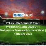 STA vs HEA Dream11 Team Prediction | BBL 2020-21 | Melbourne Stars vs Brisbane Heat | 11th Dec 2020