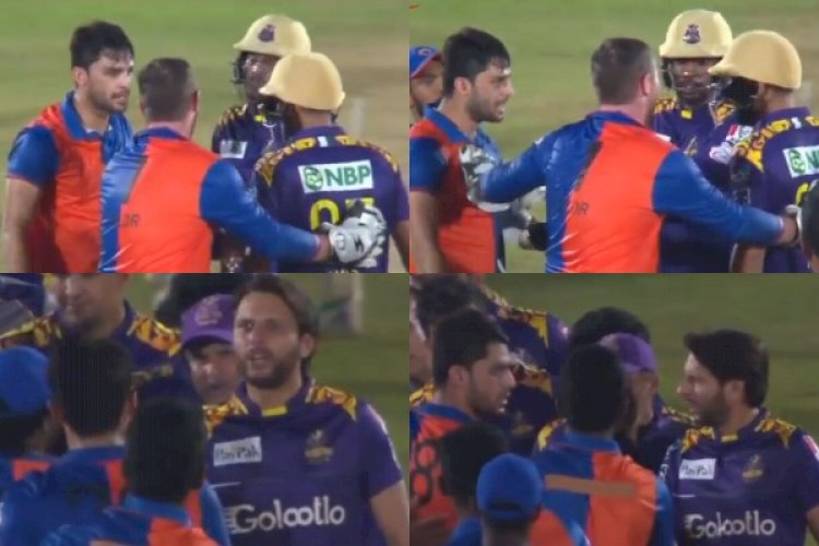 Shahid Afridi Engages In Fiery Exchange With Naveen-ul-Haq After The Pacer Abused Mohammad Amir