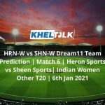 HRN-W-vs-SHN-W-Dream11-Team-Prediction-_-Match-6-_-Heron-Sports-vs-Sheen-Sports_-Indian-Women-Other-T20-_-6th-Jan-2021