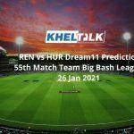 REN vs HUR Dream11 Prediction 55th Match Team