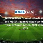 SA-W vs PK-W Dream11 Prediction 2nd Match Team Pakistan Women Tour Of South Africa, 2021 23 Jan 2021