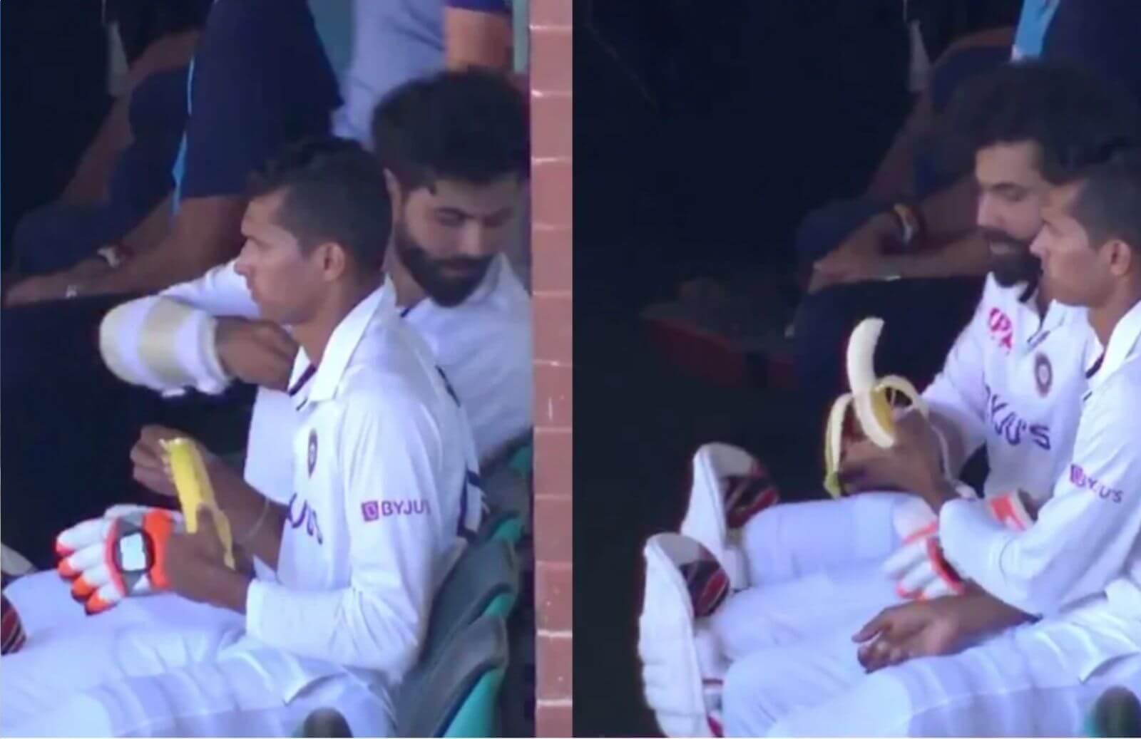 WATCH_ Cute Video Clip Gets Viral. Navdeep Saini Peeling Banana For Ravindra Jadeja