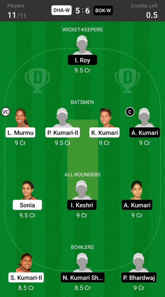 Grand League Team For Bokaro Blossoms vs Dhanbad Daffodils