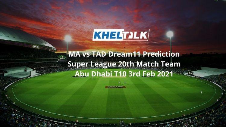 MA vs TAD Dream11 Team