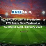 NZ vs AUS Dream11 Prediction 1st T20I Team New Zealand vs Australia 22nd February 2021