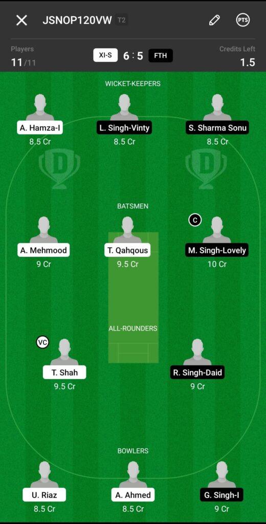 Grand League Team For XI Stars vs Fateh