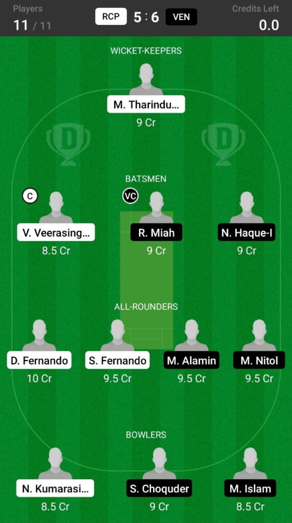 Grand League Team For RCP vs VEN