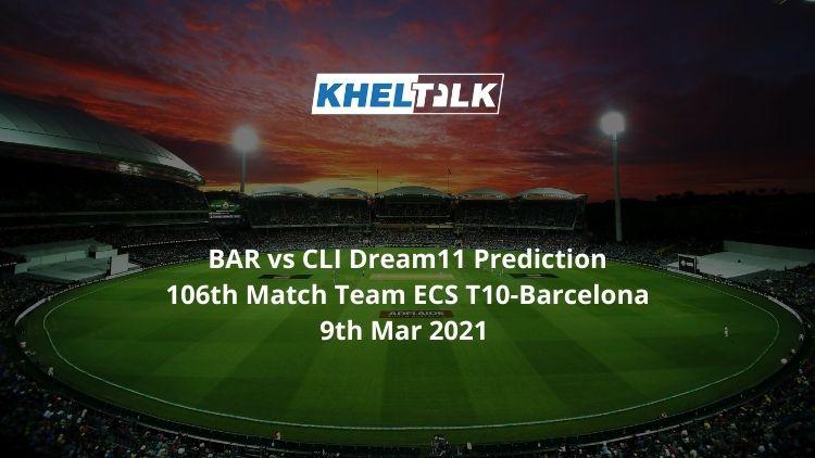 BAR vs CLI Dream11