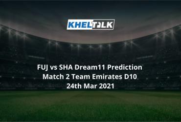 FUJ vs SHA Dream11 Prediction