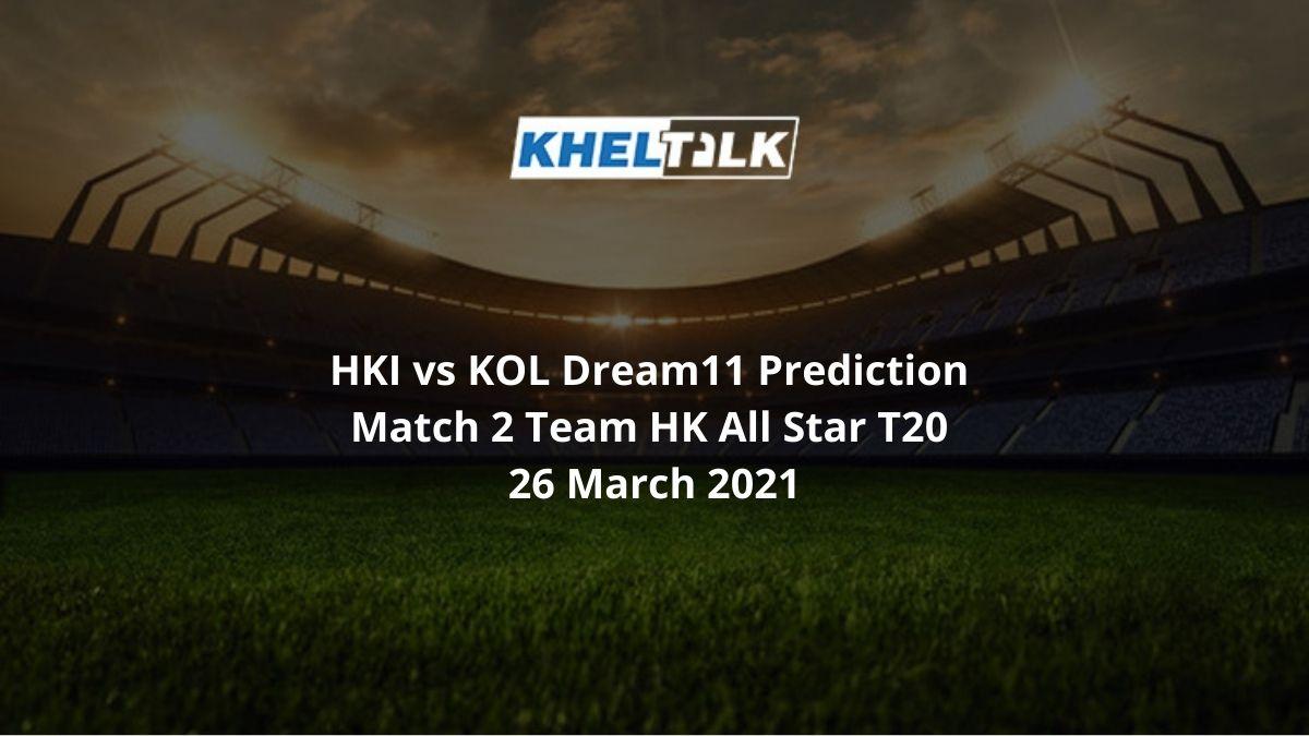 HKI vs KOL Dream11 Prediction