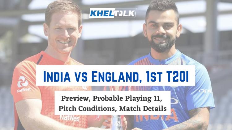 IND vs ENG 1st T20I
