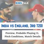 India vs England, 3rd T20I