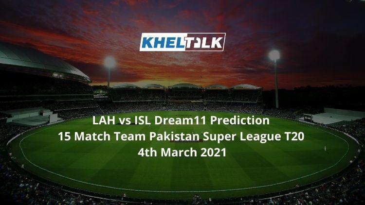 LAH vs ISL Dream11
