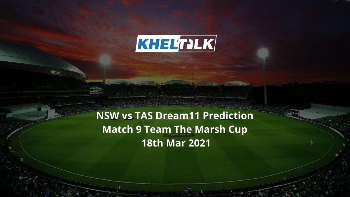 NSW vs TAS Dream11 Prediction