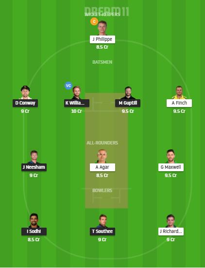 Grand League Team For New Zealand vs Australia