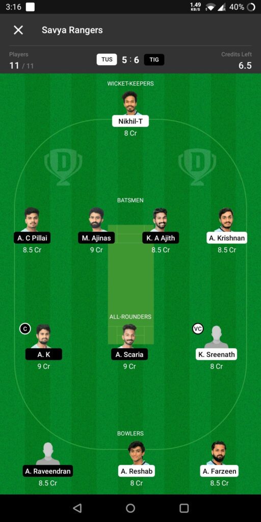 Head To Head Team For Tuskers vs Tigers