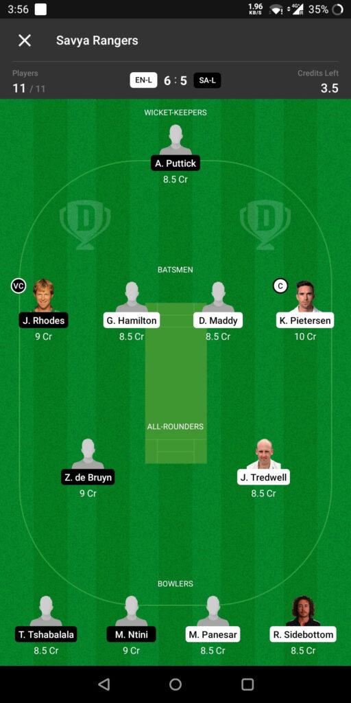 Grand League Team For England Legends vs Sri Lanka Legends