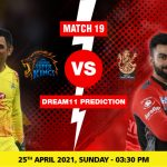CSK vs RCB Dream11 Prediction Match 19 Team by Expert IPL 25 April | Kheltalk Fantasy cricket