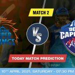 CSK vs DC Today Match Prediction