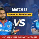 DC vs MI Dream11 Prediction Match 13 Team by Expert IPL 20th April   Kheltalk Fantasy cricket