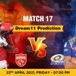 PBKS vs MI Dream11 Prediction Match 17 Team by Expert IPL 23 April | Kheltalk Fantasy cricket