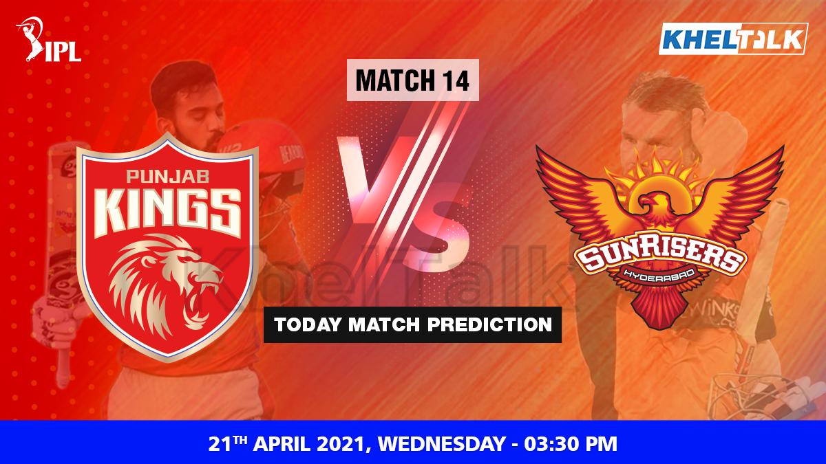 PBKS vs SRH Today Match Prediction Cricket Betting Tips Match 14 IPL 2021 21st April