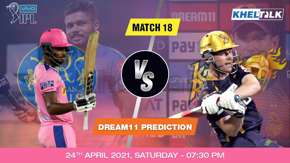 RR vs KKR Dream11 Prediction Match 18 Team by Expert IPL 24 April   Kheltalk Fantasy cricket