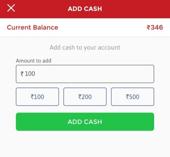 deposit money in Dream11?