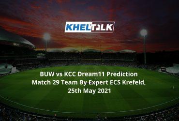 BUW vs KCC Dream11 Prediction