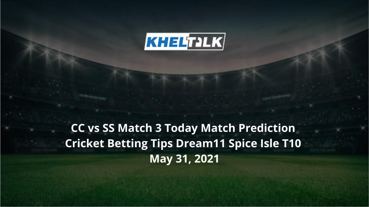 CC vs SS Match 3 Today Match Prediction