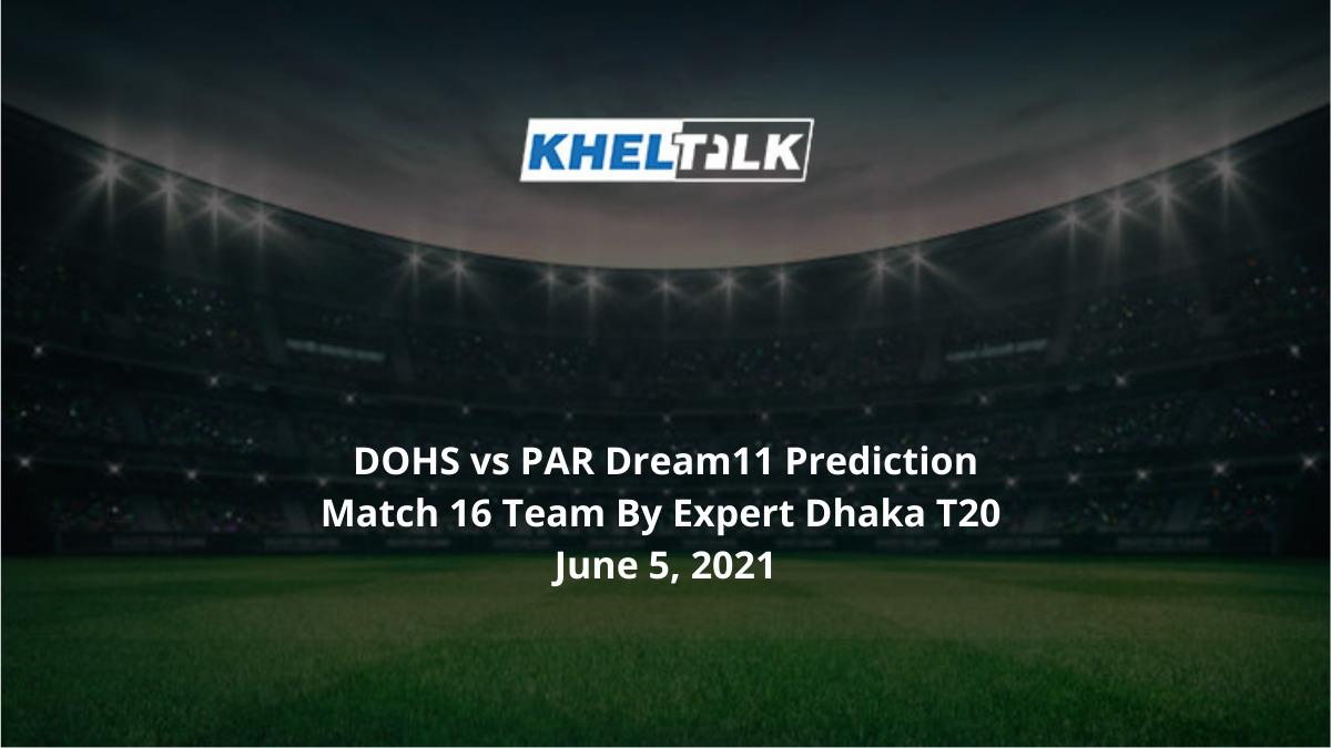DOHS vs PAR Dream11 Prediction