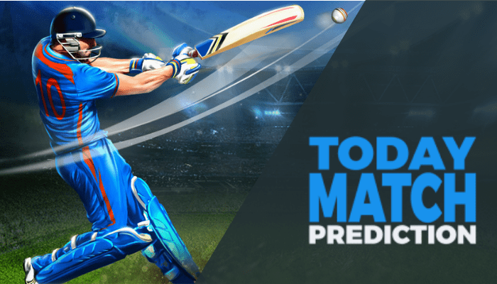 cricket prediction banner with text